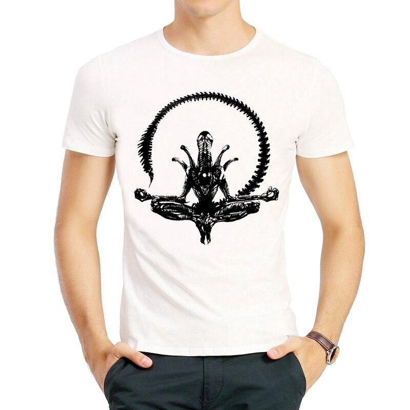 AVP   T  -  shirt   Short Sleeve White Color Fashion AVP Alien vs. Predator   T     Shirt   Top Tee AVP tshirt For Men Women