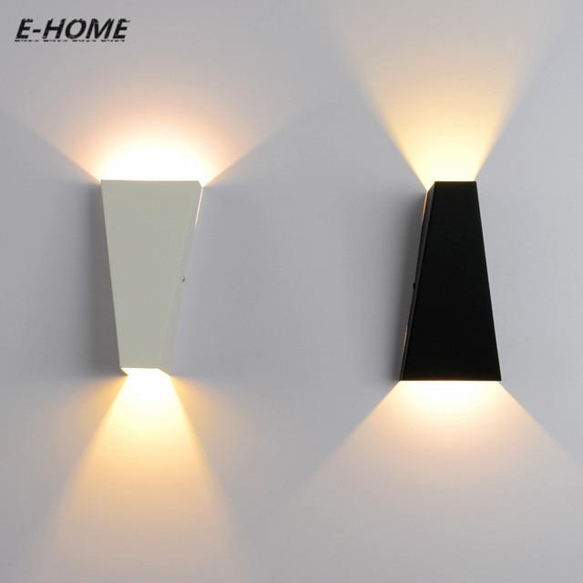 led intrieur appliques murales noir blanc mtal mont mur lampe pour escalier intrieur dcoration loft luminaria