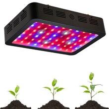 Led растет светильник 600 Вт двойные чипы 410-730nm полный спектр растет свет лучше для внутреннего парниковых цветочных растений выращивания овощей