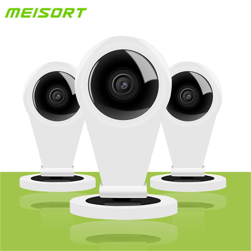 Meisort HD 720P Wifi Mini IP Camera Indoor Smart P2P Baby Monitor Two-way Audio Wireless Home Security CCTV Camera Night Vision robot camera wifi 960p 1 3mp hd wireless ip camera ptz two way audio p2p indoor night vision wi fi network baby monitor security