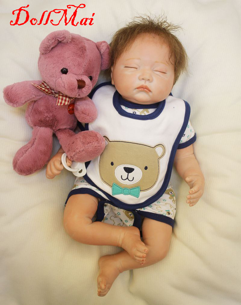 DollMai brand 20 silicone reborn dolls creative children gift dolls alive bebe real reborn children sleeping doll gift toysDollMai brand 20 silicone reborn dolls creative children gift dolls alive bebe real reborn children sleeping doll gift toys