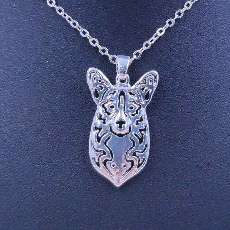 2019 Cute Welsh Corgi Necklace Dog Animal Pendant Gold Silver Plated Jewelry For Women Male Female Girls Ladies Kids Boys N099