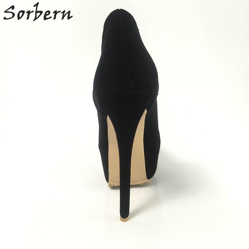 43c3eff91e7839 Designer Noir Chaussures Couleur Pompes Taille Gros Haute 15 custom Femmes  Cm Sorbern De Talons Personnalisé ...