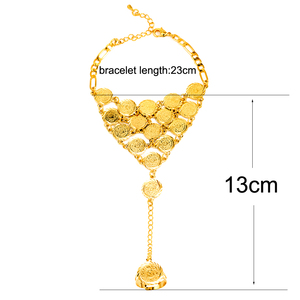 Image 4 - Ethlyn Coins Bracelet for Women Islam Muslim Arab Coin Money Sign Gold Color Middle Eastern Jewelry Bangle Metal Coin B017