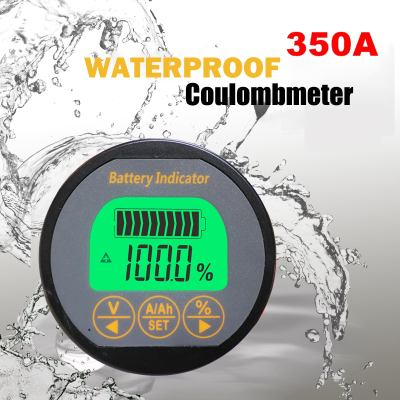 TR16 Waterproof 8-80V 350A Capacity Tester Indicator Coulometer With Shell Lithium Iron Phosphate Battery Testing Equipment 2s 3s 4s li ion lithium battery capacity indicator electricity power led display board meter tester 8 4v 12 6v 16 8v