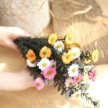 10 Stems Real Touch Artificial Flowers Silk Daisy Wedding Decoration DIY Wreath for Party