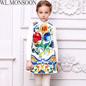 Image 3 - W.L.MONSOON Girls Dress Vestidos 2017 Brand Winter Children Chrismtams Dress Kids Clothes Princess Dresses for Girls Clothing