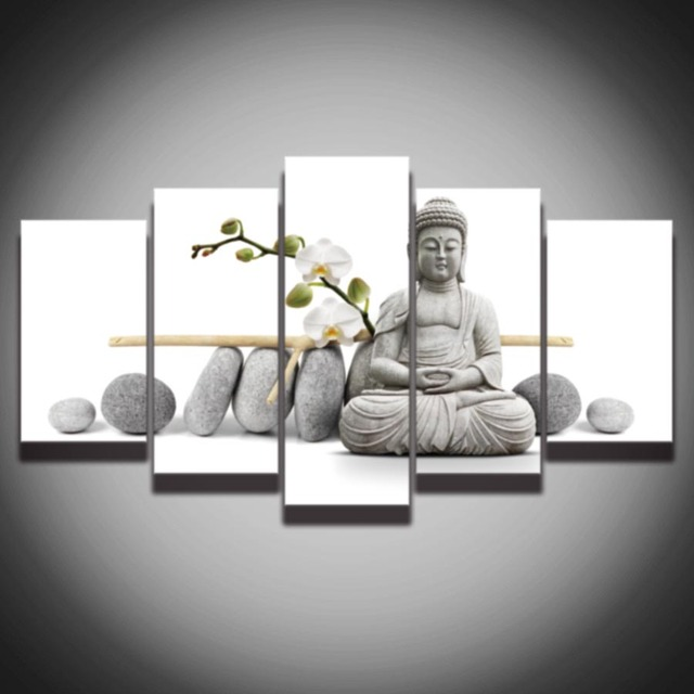 Printed stone Buddha picture painting NO frame modern wall art decor ...