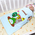 55*43CM 1 pc Baby Sleeping Bag For Summer Boy Girl Envelopes Cotton Printed Belt Clothes Sleeveless Romper Newborn Sleepsacks