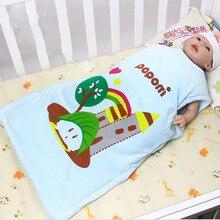 55*43CM 1 pc Baby Sleeping Bag For Summer Boy Girl Envelopes Cotton Printed Belt Clothes Sleeveless Romper Newborn Sleepsacks