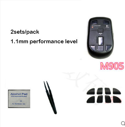 2sets/pack Original Hotline Games Mouse Skate For Logitech M905 Performacnce Level 1.1mm Professional Mouse Feet Free Shipping