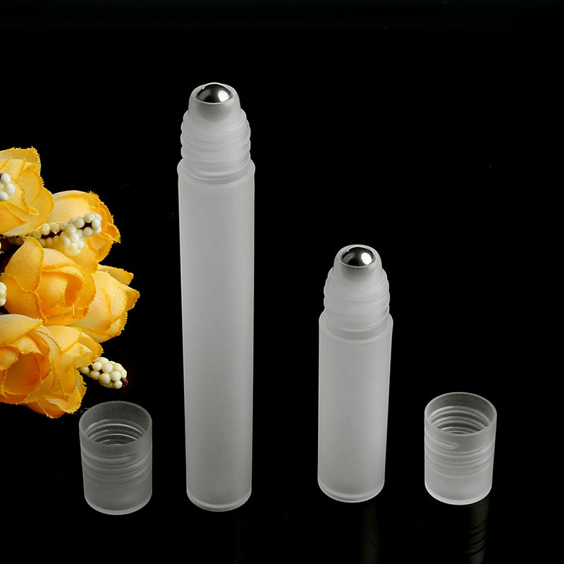 5ml/10ml Empty Perfume Roll Roller Ball Bottle On Plastic Stainless Steel Liquids Oil Container Refillable Bottles Holders New