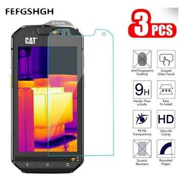 Перейти на Алиэкспресс и купить 2.5D 9H закаленное стекло для Caterpillar Cat S60 S52 Защитное стекло для экрана для Cat S60 S61 S31 защитное стекло
