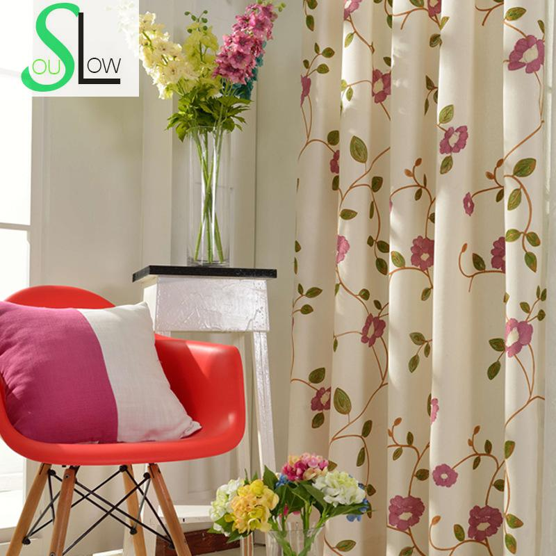 Rose Red Light Blue Curtains For Living Room Tulle Bedroom Kitchen Cortina Curtain Embroidered Chinese Blinds Children