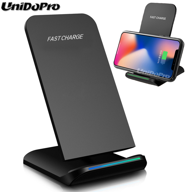 Fast Wireless Charger Pad for iPhone X 8 / 8 Plus Phone Qi
