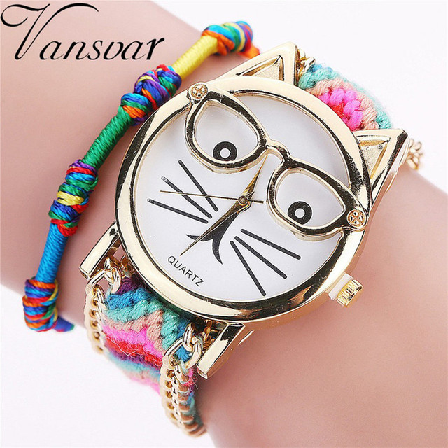 Dropshipping Quarzt Watches Handmade Braided Dreamcatcher Friendship Bracelet Wa