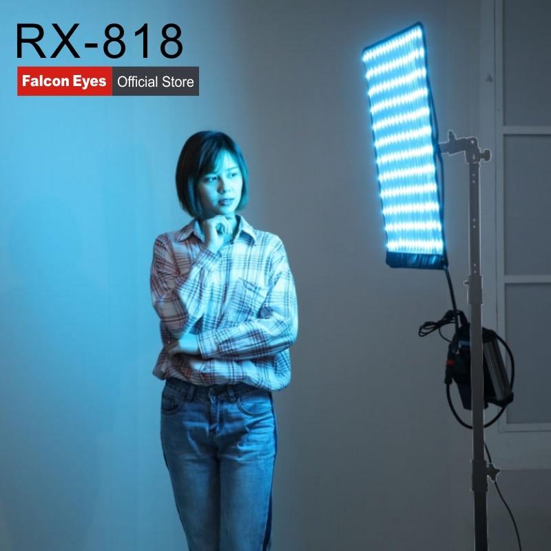 Falcon Eyes 100W RGB LED Support de lumière vidéo APP télécommande Portable 8 Modes de scène lampe d'éclairage continu RX-818