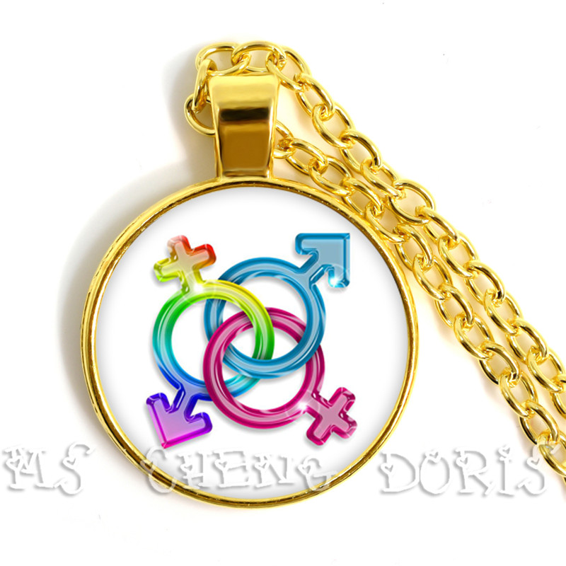 2019 New Fashion Glass Colorful Rainbow Flower Necklace Crystal Pendant Necklaces For <font><b>Bisexual</b></font> Lgbt Gay <font><b>Pride</b></font> <font><b>Jewelry</b></font> Gift image