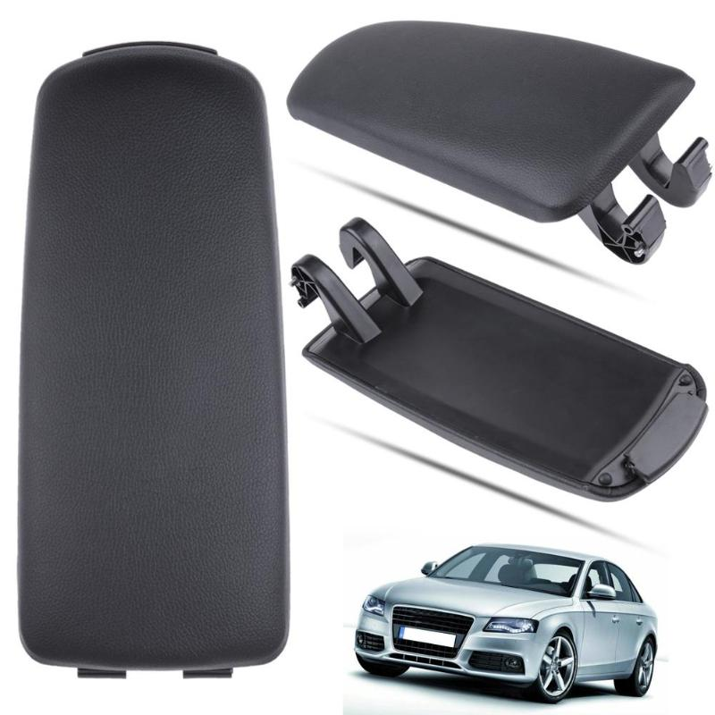 Automobiles Auto Vehicle Armrest Lip Cover Center Console Black Leather Arm Rest Cap for Audi A4 B6 B7 2018 02-07 Car Accessorie купить в Москве 2019