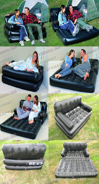 Smartlife Multifunctional Inflatable Sofa Leather Folding Sofa Bed