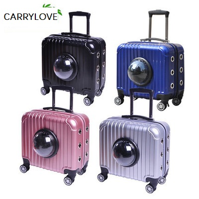 CARRYLOVE Breathable, convenient, travel with your pet 16 inch size  ABS Rolling Luggage Spinner brand CARRYLOVE Breathable, convenient, travel with your pet 16 inch size  ABS Rolling Luggage Spinner brand