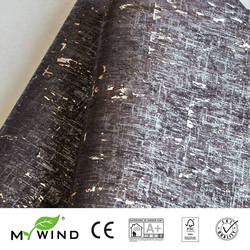 2019 MY WIND Black gold Bohemia style Wallpapers Luxury 100% Natural Material Safety Innocuity 3D Wallpaper In Roll noble Decor