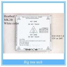 Nuevo Color Blanco PCB Impresora RepRap 3D Heatbed MK2B Calor Cama Placa caliente Para Prusa Mendel y MK2A para piezas de la impresora 3d