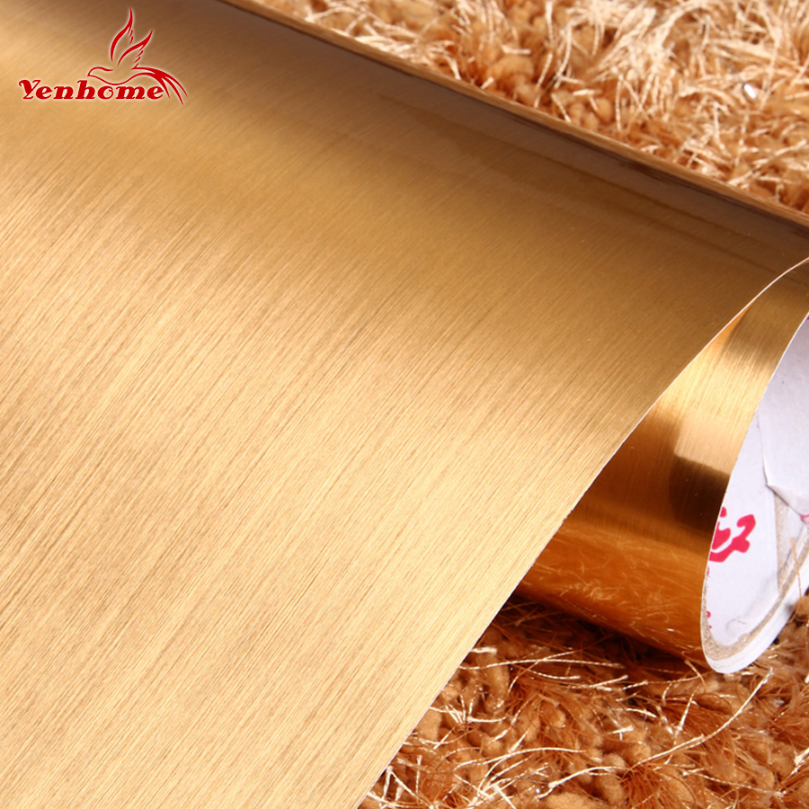 3 Meter Self adhesive wall paper furniture decor silver brushed ...
