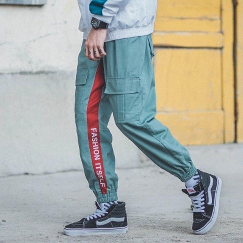 Хип хоп шаровары, спортивные брюки, мужские крутые брюки карго, мужские повседневные Хип хоп модные штаны в уличном стиле, корейская модная