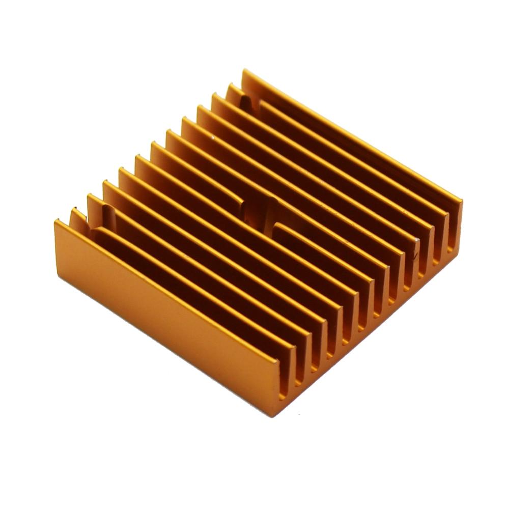 Gold Heat Sink Part For MK7 MK8 Cooling Fan 3D Printers