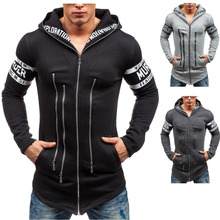 Korean slim fashion casual jacket Men winter hooded sweater performance outdoors dress show for Tourism outdoors wear