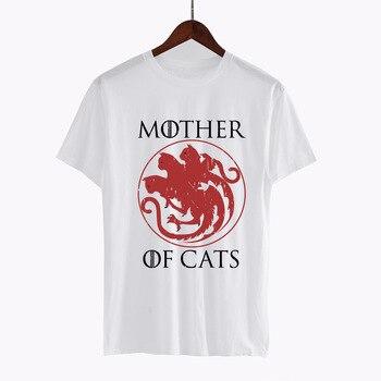 Hillbilly Casual T shirts Mother of Cats harajuku Tees Tshirts Women Tops Tees Short Sleeved