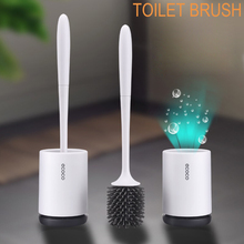 Toilet Brush Set Silicone Cleaning For Bathroom Black Wall-mounted or Floor-standing Bowl