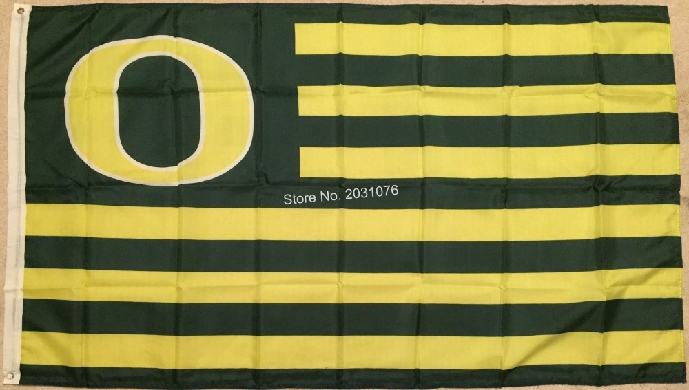 Oregon Ducks NCAA Football Striped Flag Large 3x5 Ft. Man Cave Grommets O ...