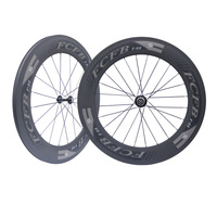 2017 new ems free ship FCFB RA209 Hubs 700C 23mm 88mm depth Clincher Tubular Road Bike Carbon Wheels Carbon Bicycle Wheelset