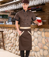 Chef Wear Short Sleeved Summer Hotel Chef Uniform Cake Pastry Kitchen and Work Clothes Chef Jackets Cook Clothing