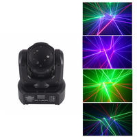 AUCD Mini 3 Heads RGB Laser Shark Moving Beam Light DMX Professional Bar Party Disco Show