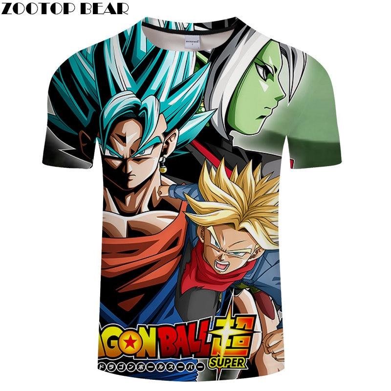 Super Anime 3D Printed T shirt Short Sleeve shirt Unisex Summer Tee Top Plus Size 6XL Camiseta Male Brand Male Tee ZOOTOP BEAR