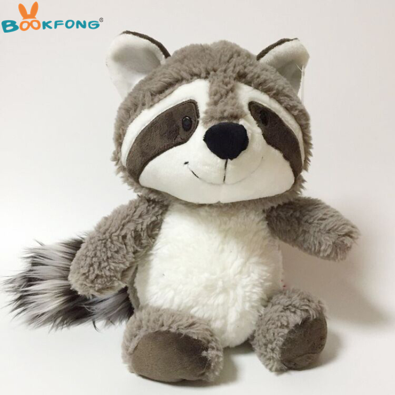 25cm Raccoon Plush Toy Cute Animal Stuffed Bear Doll Adorable Raccoon Plush Baby Doll Kids Gift new base plate 32 16 dots big size blocks baseplate compatible legoes duploe 51 25 5 cm diy building blocks base for kids gifts