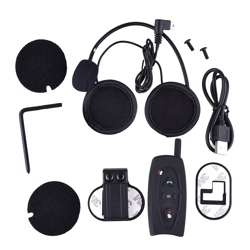 HOT SELLING V2-500M Motorcycle Interphone Intercom for Motorcycle Bluetooth Helmet Headset Intercom for 2 Riders