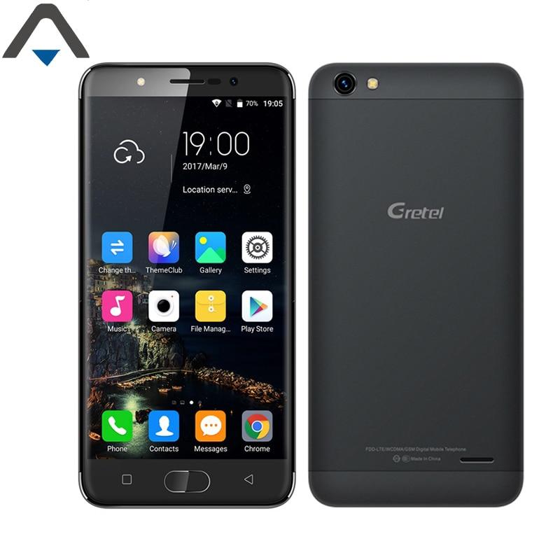 Original Gretel A9 4G LTE Mobile Phone 5 inch Android 6.0 2G RAM 16G ROM 8.0MP 2300mAh Fingerprint ID Noborde SmartPhone