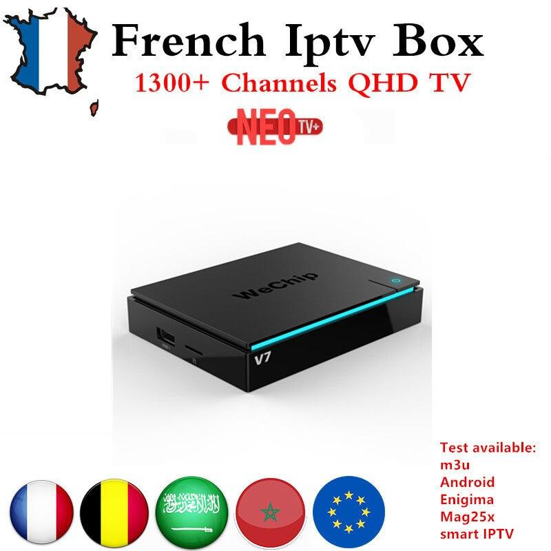 French IPTV  box wechip V7 Android 7.1 Smart TV BOX 3G 32G +1200+ NEOTV Europe Arabic Beigium Morocco PayTV & VOD Set top Box mag250 linux system set top box usb wifi with neo iptv french iptv arabic tunisia morocco belgium channels paytv