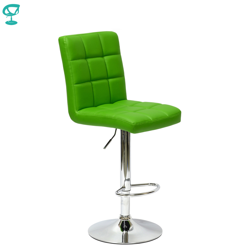 94638 Barneo N-48 Leather Kitchen Breakfast Bar Stool Swivel Bar Chair Green Color Free Shipping In Russia