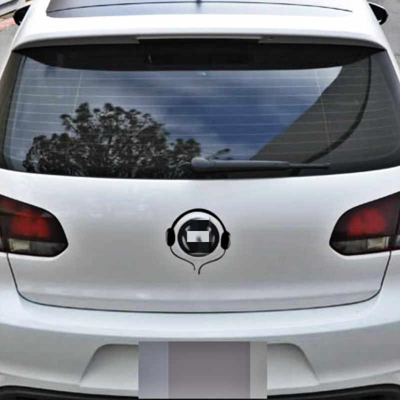 Accessoires voiture autocollants décalcomanie queue Logo écouteur pour VW Volkswagen Polo skoda Golf Jetta Sagitar Touran Passat CC