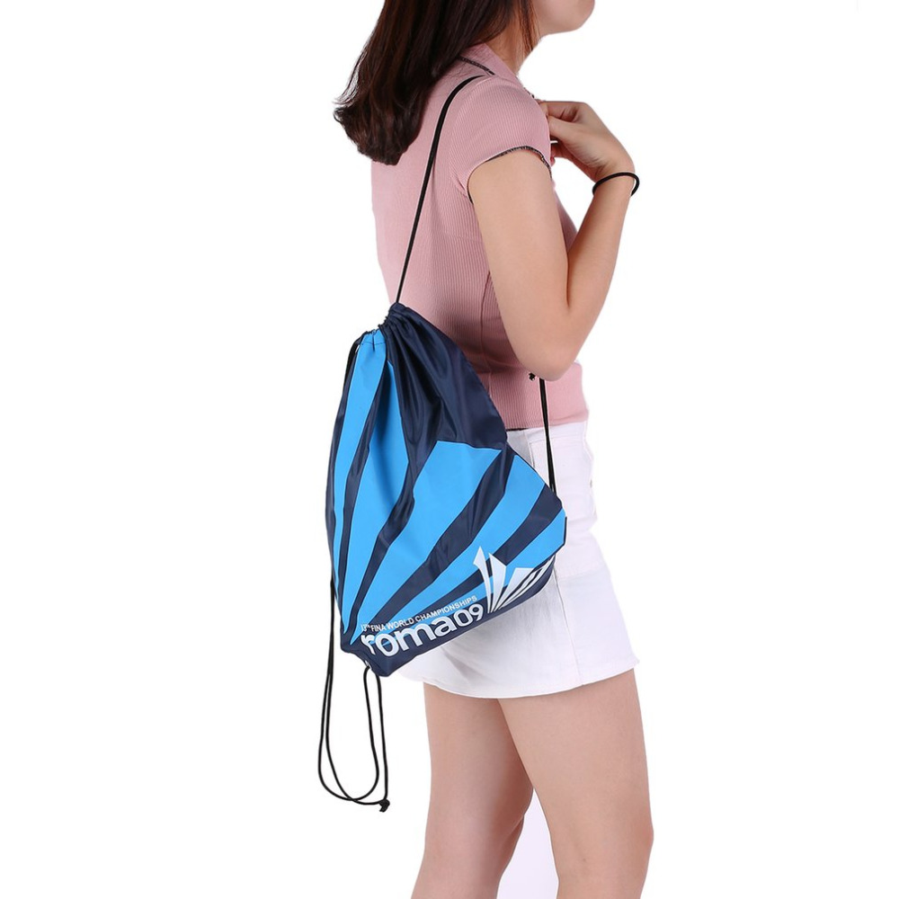 Double Layer Drawstring Gym Waterproof Backpacks Swimming Sports Beach Bag Travel Portable Fold Mini Shoulder Bags Free Shipping