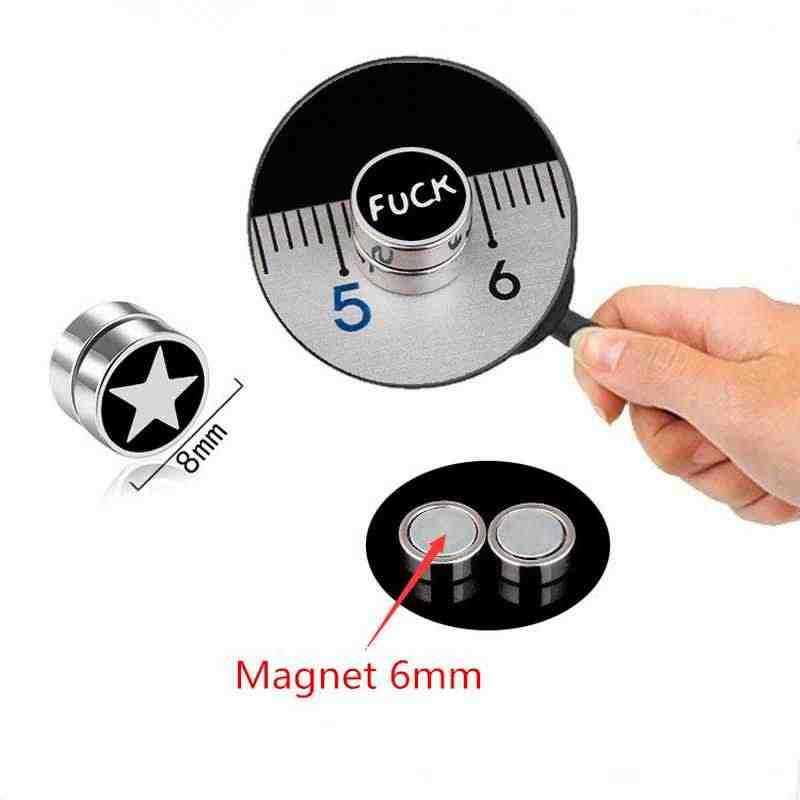 1 PC Forte Magnete Magnetico Della Vite Prigioniera Dell'orecchio Non Piercing Punk Orecchini del Foro di Orecchio Orecchini con perno Regalo Uomo Donna Accessori Dei Monili