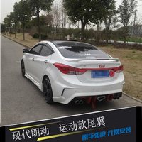 For Hyundai Elantra Spoiler 2012 2013 2014 2015 Car Tail Wing Decoration ABS Plastic Unpainted Primer Rear Trunk Spoiler