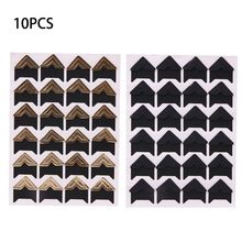 10 Sheets Photo Corners Self Adhesive Stickers, Photo Mounting Paper Corner Stickers for DIY Scrapbook Albums все цены