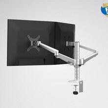 OA-4S, алюминиевый сплав, настольный двойной кронштейн, двойной держатель для монитора, полный светодиодный держатель для экрана, Поворотная подставка