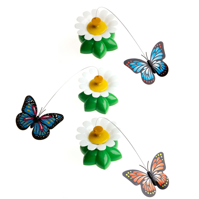 Pet Toy Electric Rotating Cat Toys Flower Butterfly Birds Steel Wire Dog Teaser Z07 Drop Shipping
